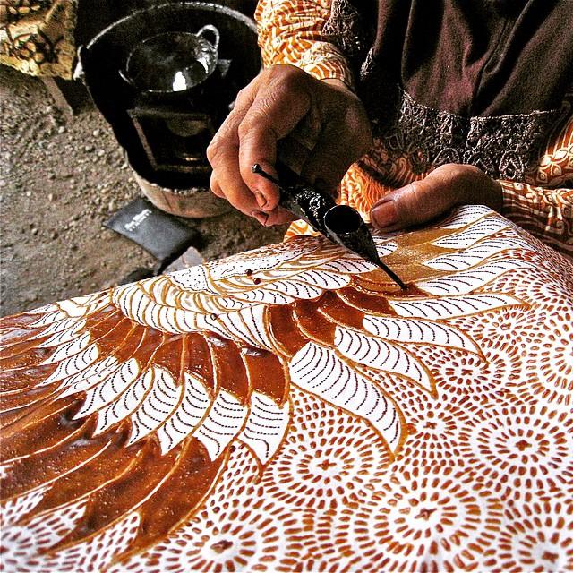 Watch Batik being made up close